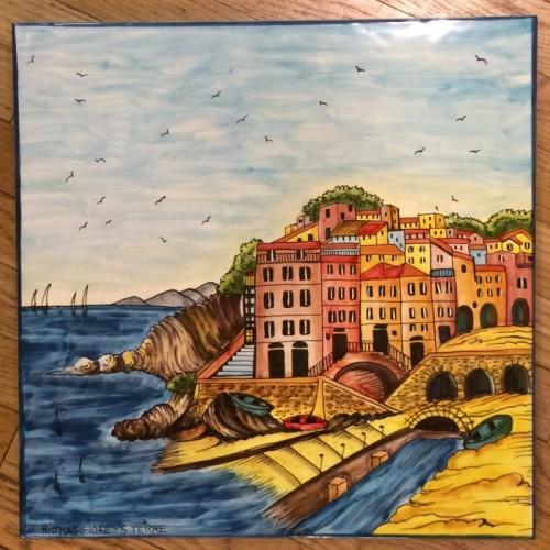 Tuscan Seaside Village Table or Panel