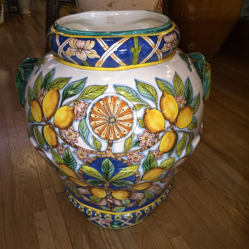 Tuscan Lemons Flatback Urn