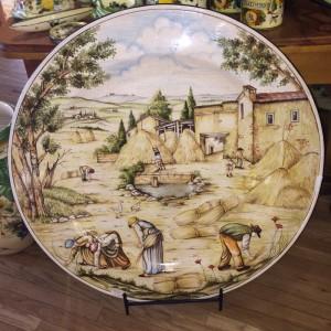 Tuscan Harvest Scene Decorative Platter