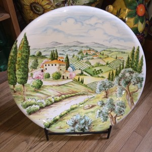 Tuscan Countryside Ceramic Platter