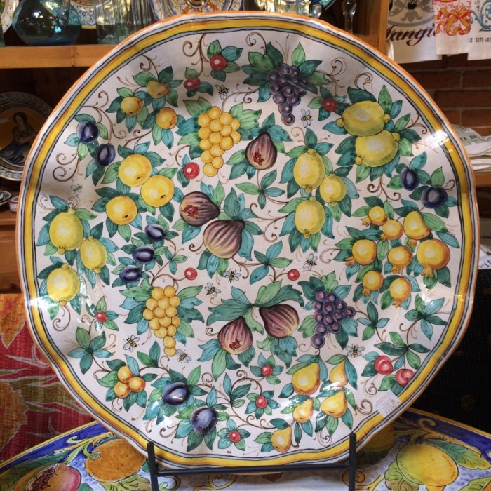Tuscan Fruit and Bees Large Platter