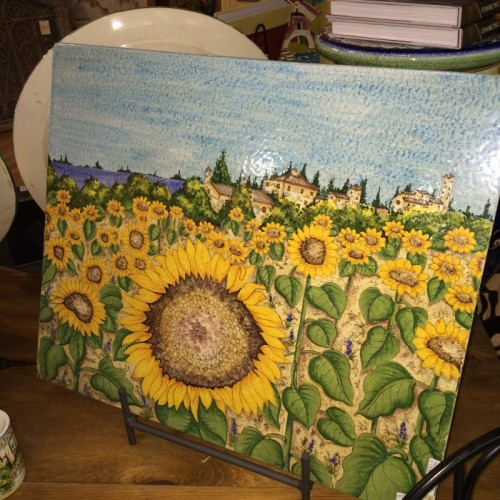 Tuscan Sunflowers Large Tile Panel