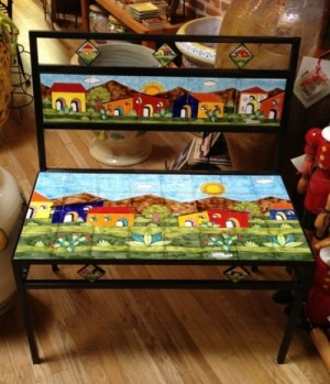 Parrucca Tile Bench - Village design