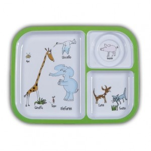 Picnic Zoo Animali Divided Tray