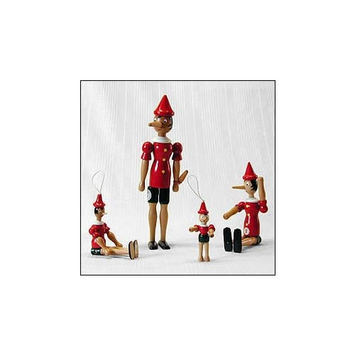 Wooden Pinocchios hand made in Italy