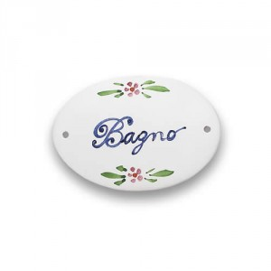 "Quadri Oval Plaque - ""Bagno"""