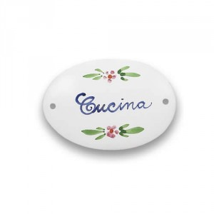 "Quadri Oval Plaque - ""Cucina"""
