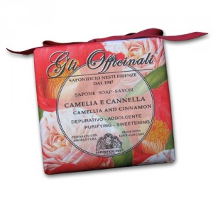 Gli Officinali Camellia and Cinnamon Italian Soap
