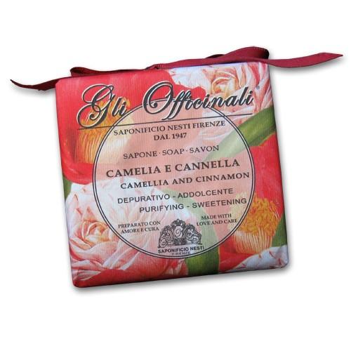 Gli Officinali Camellia and Cinnamon Italian Soap