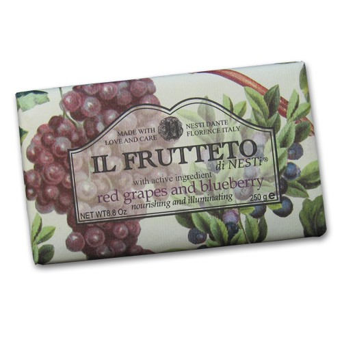 Il Frutteto Red Grapes and Blueberry Italian Soap with Olive Oil