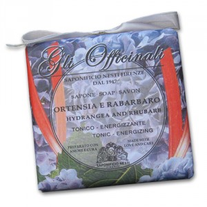 Gli Officinali Hydrangea and Rhubarb Italian Soap
