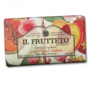 Il Frutteto Peach and Melon Italian Soap with Olive Oil