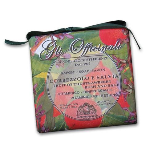 Gli Officinali Strawberry Bush and Sage Italian Soap