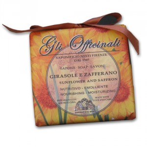 Gli Officinali Sunflower and Saffron Italian Soap