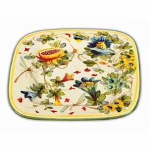 Toscana Fiori Square Platter