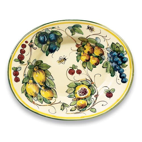 Toscana Bees Ceramic Oval Platter