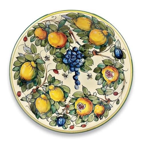 Toscana Bees Large Round Ceramic Platter Italian Pottery