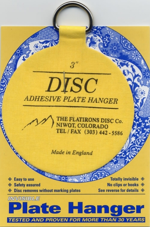 Disc Adhesive Plate Hanger - 3""