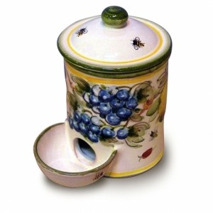 Toscana Bees Salt Container with Bowl