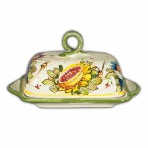Toscana Fiori Butter Dish