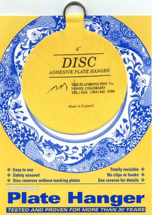 """Disc Adhesive Plate Hanger - 4"""""""