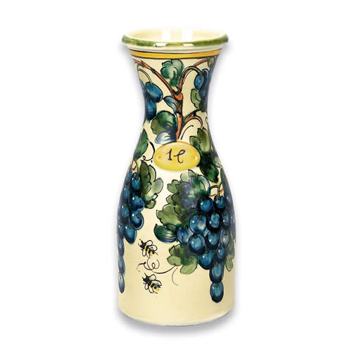 Toscana Bees Wine Carafe Italian Pottery Outlet