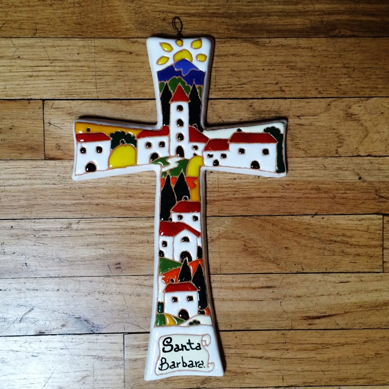 Handmade Relief Cross - Small Daytime Scene