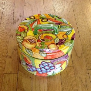 Arlecchino Round Biscotti Jar