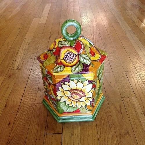 Arlecchino Hexagonal Biscotti Jar