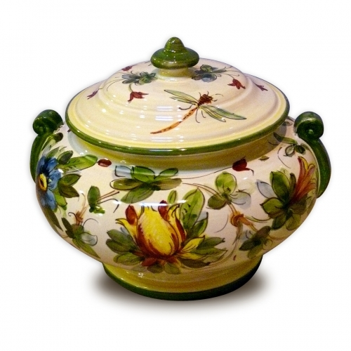 Toscana Fiori Jar with Handles