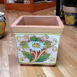 Square Planter - Daisy
