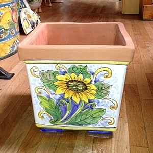 Square Planter - Sunflower