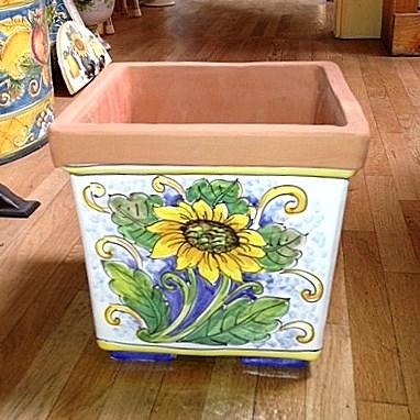 Square Planter - Sunflower