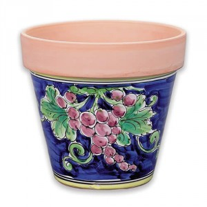 Large Flowerpot - Grapes