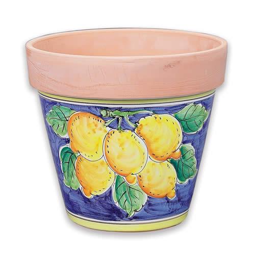 Large Flowerpot - Lemons