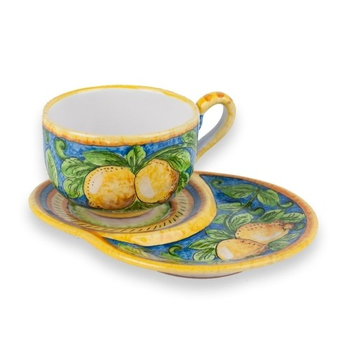Limone Latte Cup with Biscotti Saucer