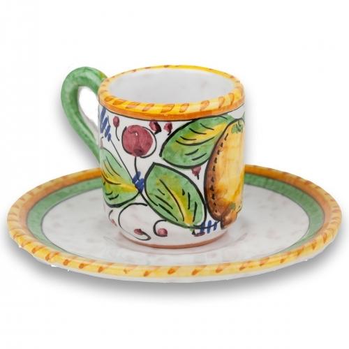 Frutta Mista Espresso Cup with Saucer