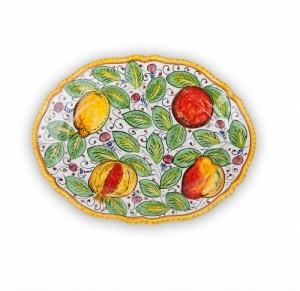 Frutta Mista Fluted Oval Platter