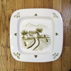 Tuscan Scene Handpainted Plate - Path