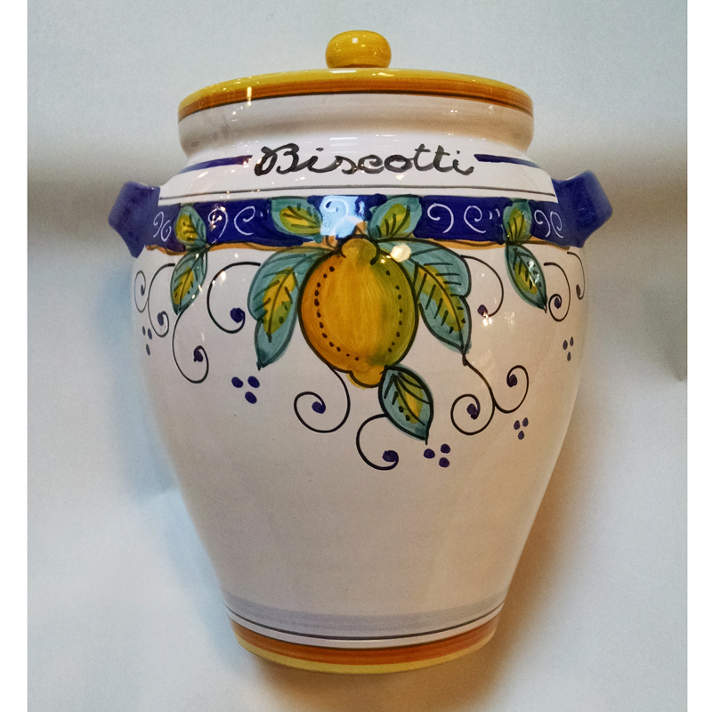 beautiful Ceramic Biscotti Jar Part - 3: Alcantara Biscotti Jar