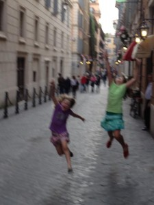 Jumping for Joy in Florence