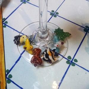 jungle love wine charms