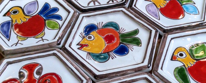 Hand painted tiles by Susanna DeSimone from Italian Pottery Outlet.