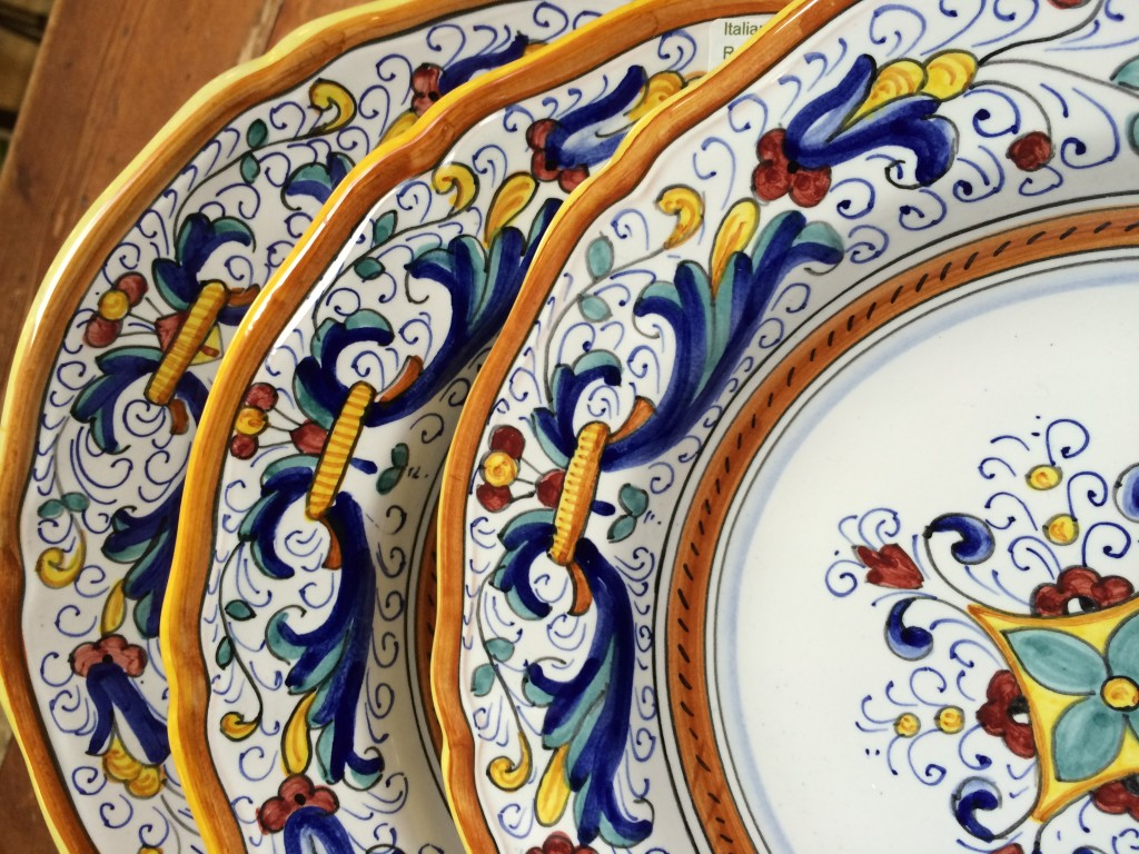 Italian Pottery Outlet - each plate is handmade and hand painted, so each plate is different!