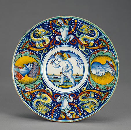 Dish with Cupid on a Hobbyhorse