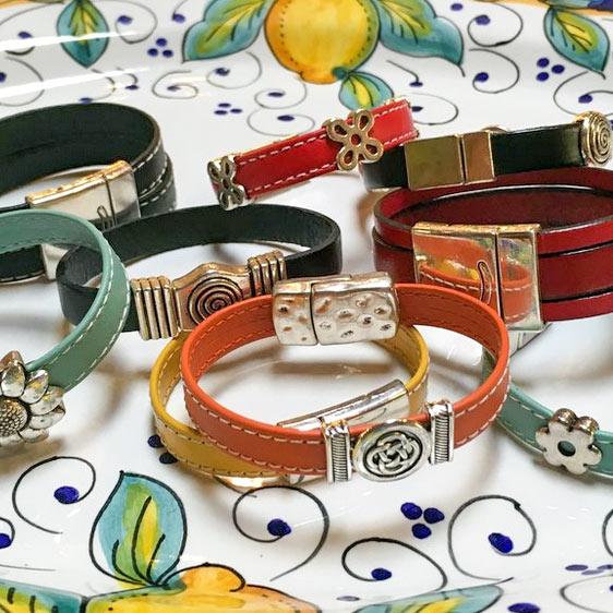 Pellarte hand-made Italian leather bracelets