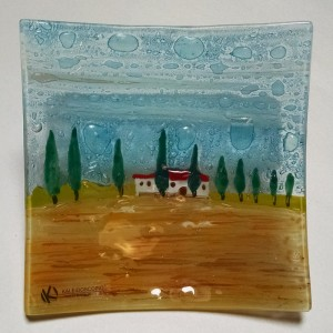 Tuscan Cypress Square Tray