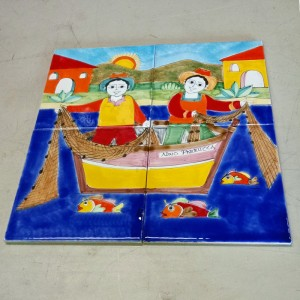 Nino Parrucca Tile Set - Italian Pottery Outlet