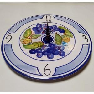 Uva Clock - Italian Pottery Outlet