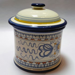 Toscana Cuore Biscotti Jar - Italian Pottery Outlet